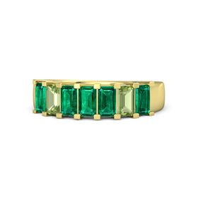 Emerald Emerald 14K Yellow Gold Ring with Emerald and Peridot