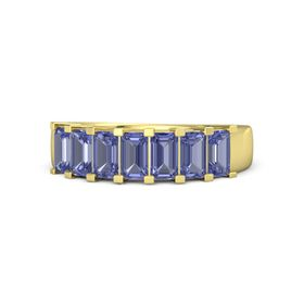 Emerald-Cut Tanzanite 14K Yellow Gold Ring with Tanzanite