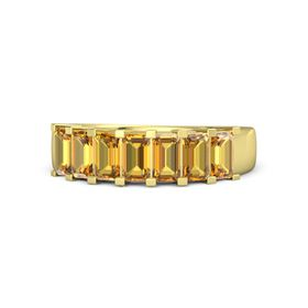 Emerald-Cut Citrine 18K Yellow Gold Ring with Citrine