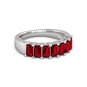 Seven-Stone Deco Band (5mm gems)