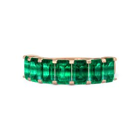 Emerald-Cut Emerald 14K Rose Gold Ring with Emerald