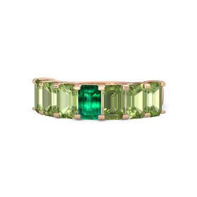 Emerald Emerald 14K Rose Gold Ring with Peridot
