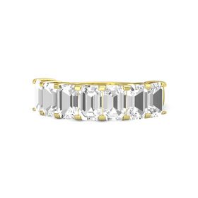 Emerald-Cut Rock Crystal 14K Yellow Gold Ring with Rock Crystal