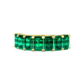Emerald-Cut Emerald 18K Yellow Gold Ring with Emerald