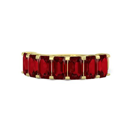 Seven-Stone Deco Band (6mm gems)
