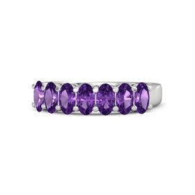 Oval Amethyst Sterling Silver Ring with Amethyst
