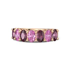 14K Rose Gold Ring with Rhodolite Garnet and Pink Sapphire