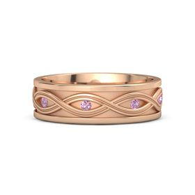 14K Rose Gold Ring with Pink Tourmaline and Pink Sapphire