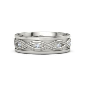 Men's 14K White Gold Ring with Diamond