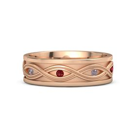 18K Rose Gold Ring with Rhodolite Garnet and Ruby