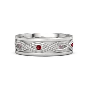 Sterling Silver Ring with Rhodolite Garnet and Ruby
