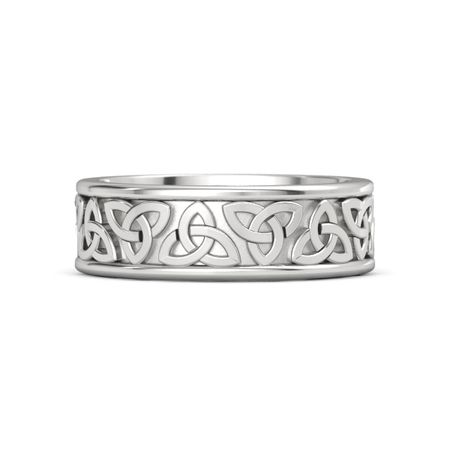 1bd94d64b38d3 Sterling Silver Ring | King Triquetra Band (7.6 mm) | Gemvara