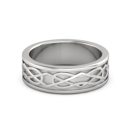 Mens Sterling Silver Ring Kells Celtic Wedding Band Gemvara