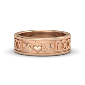 Men's 14K Rose Gold Ring