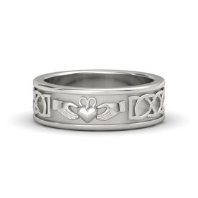 Men's 14K White Gold Ring