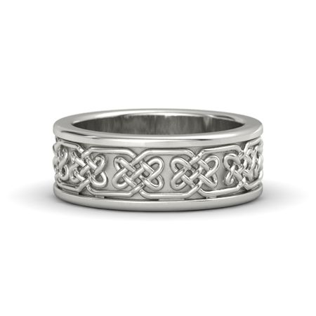 14k white gold ring lindisfame celtic wedding band gemvara