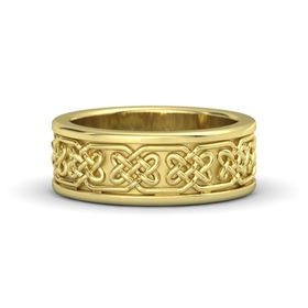 Lindisfame Celtic Wedding Band