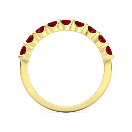Nine-Gem Band Ring