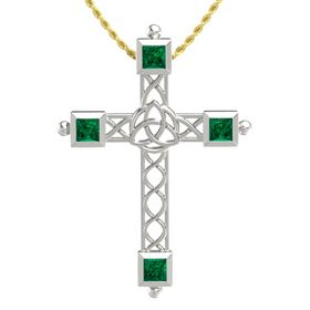 Platinum Pendant with Emerald