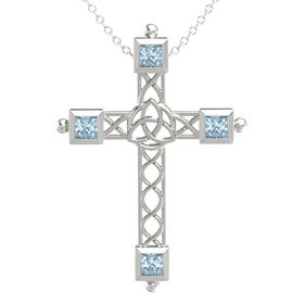 Platinum Pendant with Aquamarine