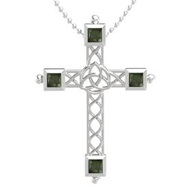 Sterling Silver Pendant with Green Tourmaline