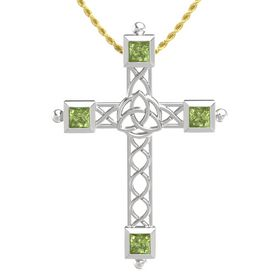 Sterling Silver Pendant with Peridot