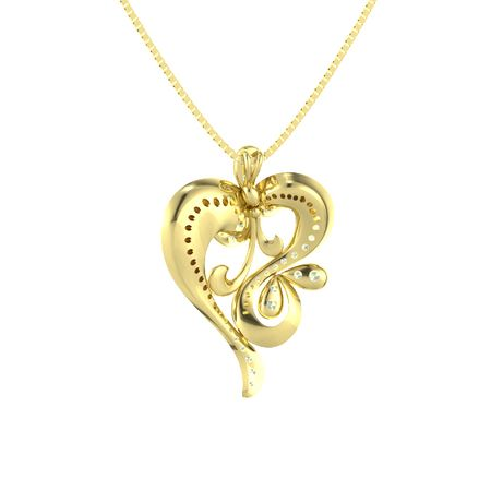 Whirling Heart Pendant