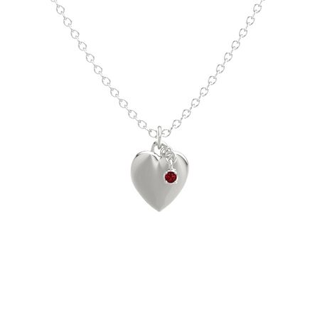 Round ruby platinum pendant skylight heart gem pendant satin skylight heart gem pendant satin finish aloadofball Gallery