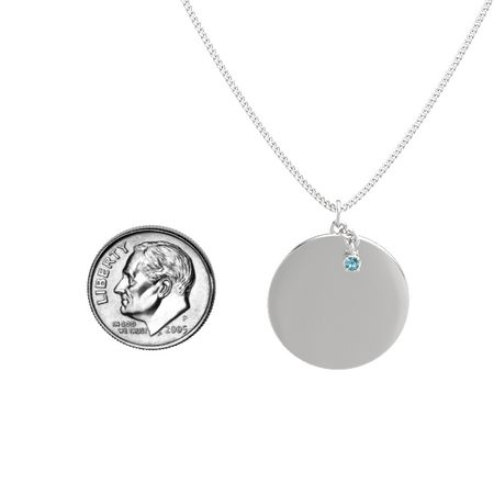 Large Skylight Disc Gem Pendant (Satin-Finish)