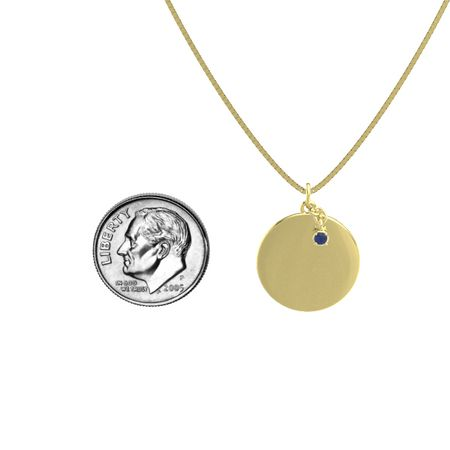 Skylight Disc Gem Pendant (Satin-Finish)