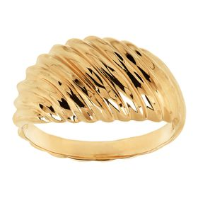 Ribbed Swirl Dome Ring
