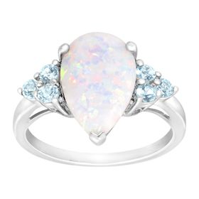 1 3/4 ct Opal & Sky Blue Topaz Ring