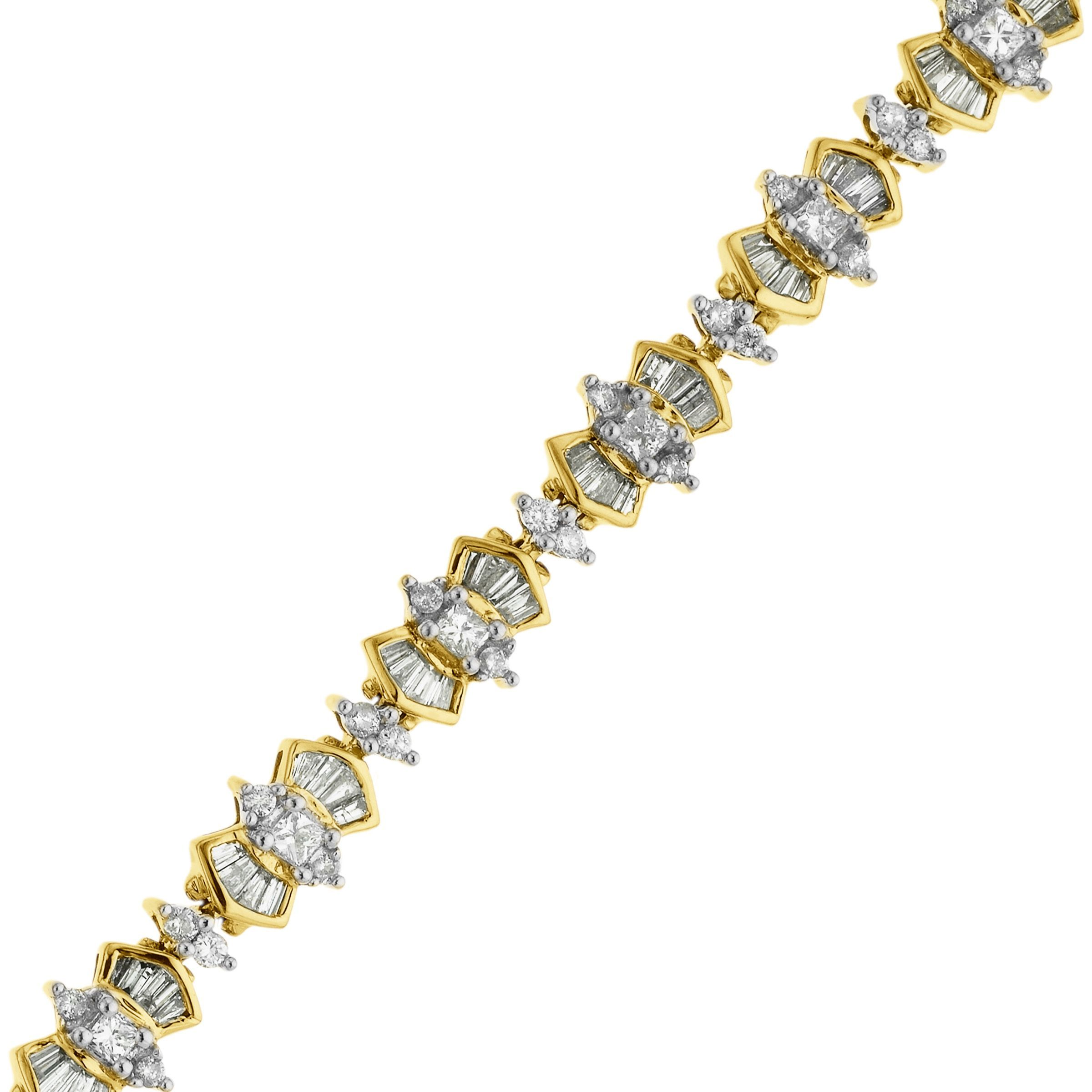 IGI Certified 4 1 2 ct Diamond Bracelet in 14K Gold 7 5