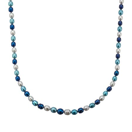 5-9 mm Multi-Color Pearl Strand Necklace