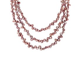 Raspberry Pearl Necklace