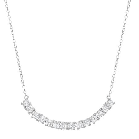 Line Necklace with Cubic Zirconia