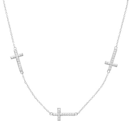 Cross Necklace with Cubic Zirconia