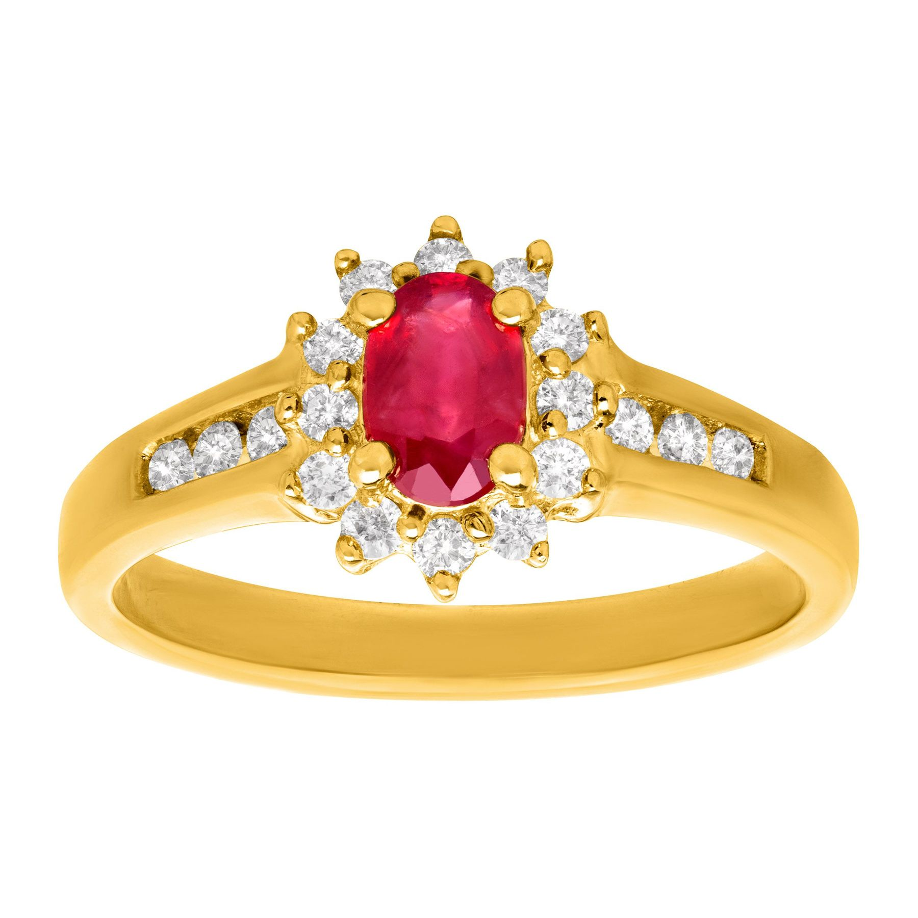wedding gold rings women lovely ruby k halo with ring natural p for diamond anniversary engagement