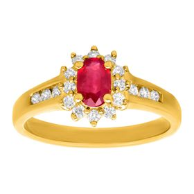 5/8 ct Ruby & 1/4 ct Diamond Ring