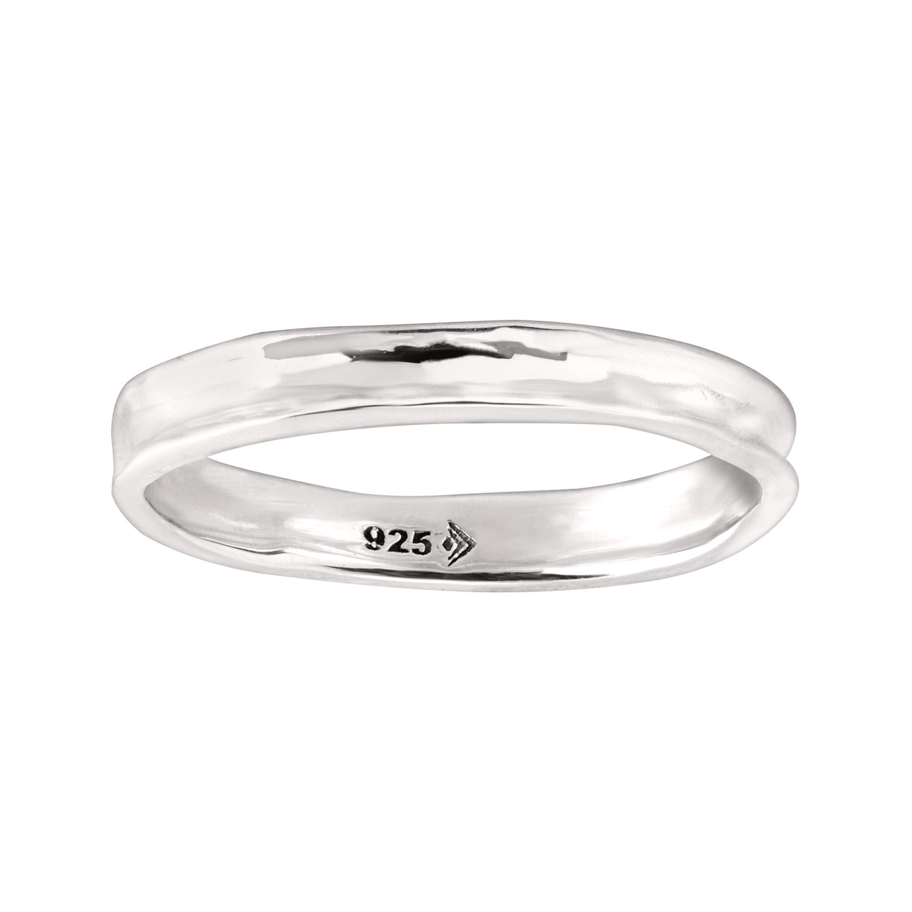 925 Solid Sterling Silver Stacking Ring Band  Size 6 7