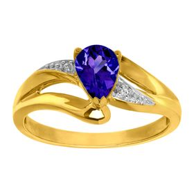 Sapphire Ring with Diamond