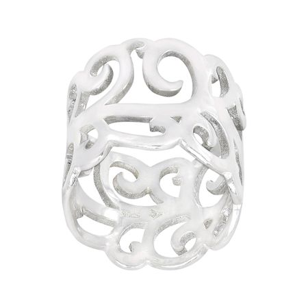 Silpada Sterling Silver 'Eden' Band Ring, Size 10