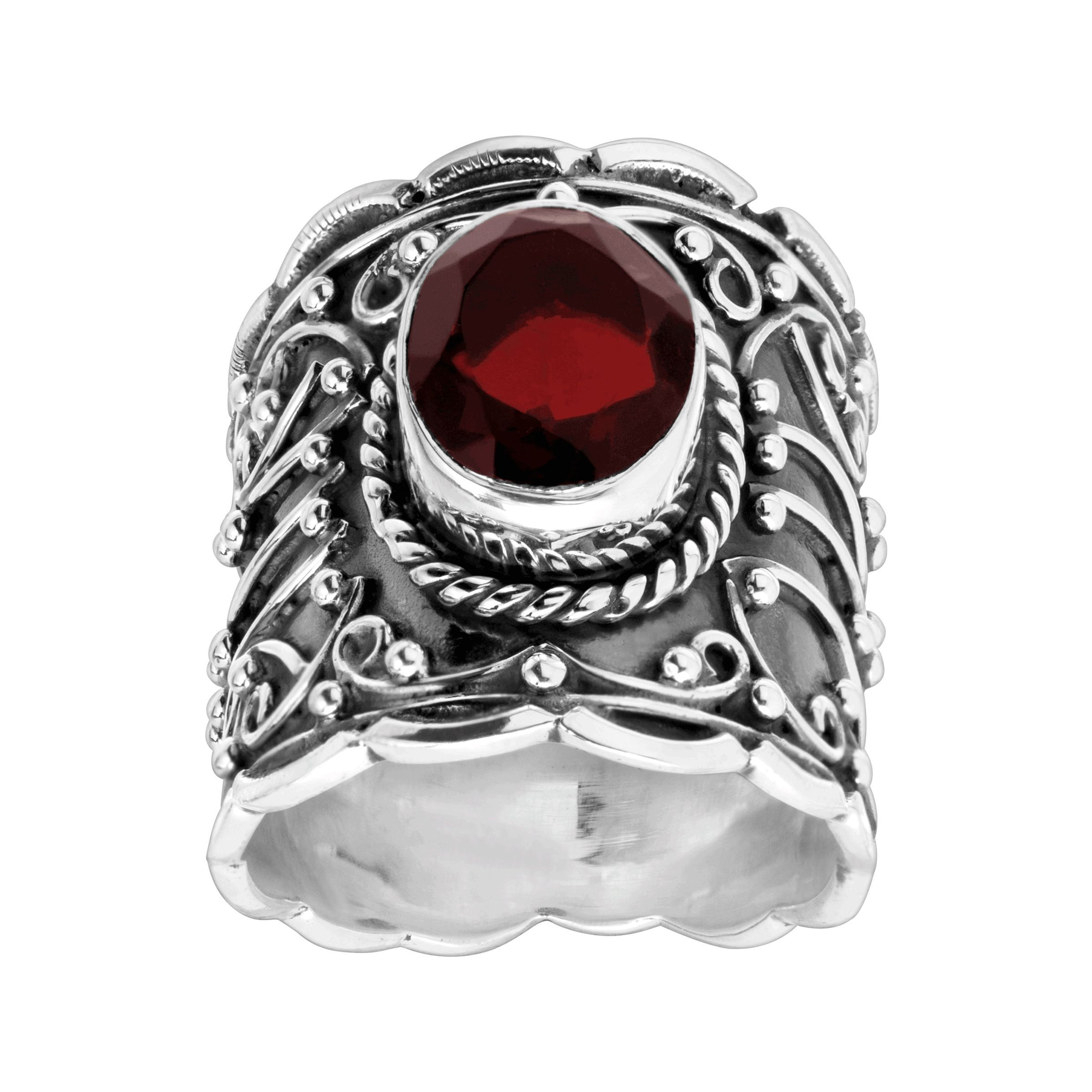 49c0acddb Silpada 'Pome-garnet' 5 ct Natural Garnet Ring in Sterling Silver ...