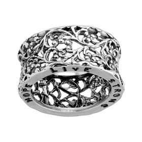Hope, Live, Strong Filigree Ring
