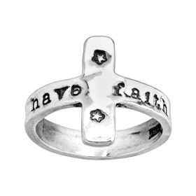 Have Faith Cross Ring