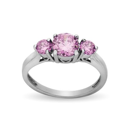 Ring with Pink Cubic Zirconia