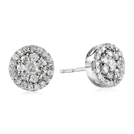 1/2 ct Diamond Cluster Stud Earrings