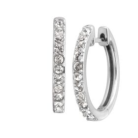Petite Hoop Earrings with Crystals