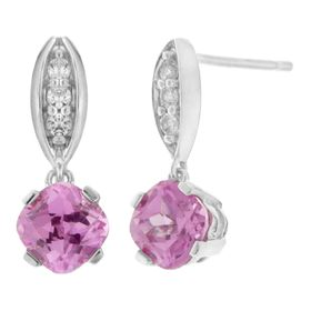 Pink Drop Earrings with Cubic Zirconia