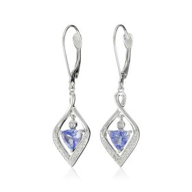 Tanzanite & 1/10 ct Diamond Floater Earrings